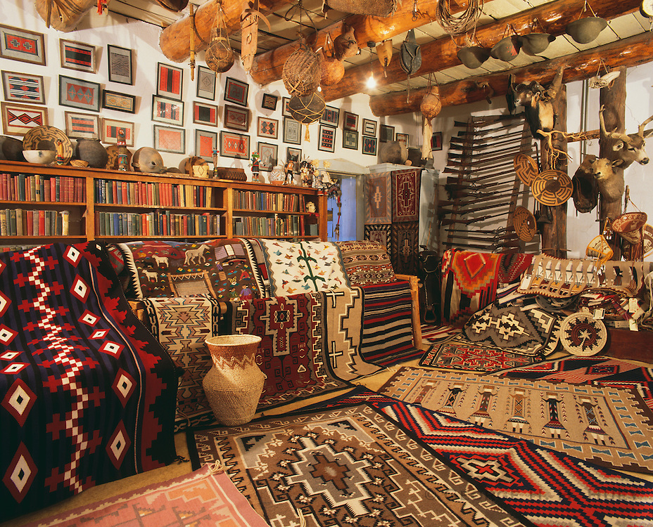 0108-1013B ~ Copyright:  George H. H. Huey ~ The Rug Room, with modern Navajo Indian weavings. Founded by John Lorenzo Hubbell in 1876. Still an active trading post today. Hubbell Trading Post National Historic Site, Arizona.