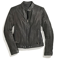 sword black leather jacket