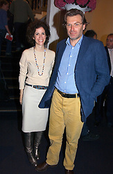 MOLLIE DENT-BROCKLEHURST and her husband DUNCAN WARD at a party to celebrate the opening of Photo-London 2006 at Burlington Gardens, London W1 on 17th May 2006.<br />