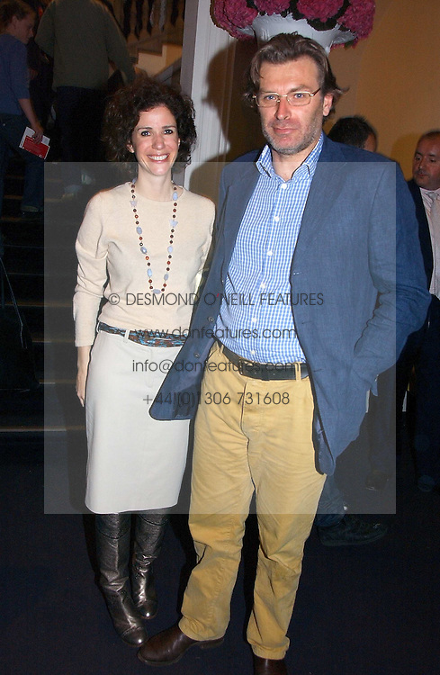 MOLLIE DENT-BROCKLEHURST and her husband DUNCAN WARD at a party to celebrate the opening of Photo-London 2006 at Burlington Gardens, London W1 on 17th May 2006.<br /><br />NON EXCLUSIVE - WORLD RIGHTS