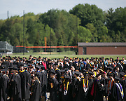 Graduates and faculty prepare to enter Gordon Field House at RIT's Convocation Ceremony in Rochester on Friday, May 22, 2015.