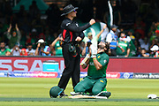 100 - Imam-ul-Haq of Pakistan prays as he celebrates scoring a century during the ICC Cricket World Cup 2019 match between Pakistan and Bangladesh at Lord's Cricket Ground, St John's Wood, United Kingdom on 5 July 2019.