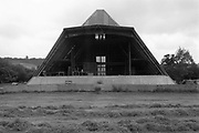 The empty Pyramid Stage, Glastonbury, Somerset, 1989