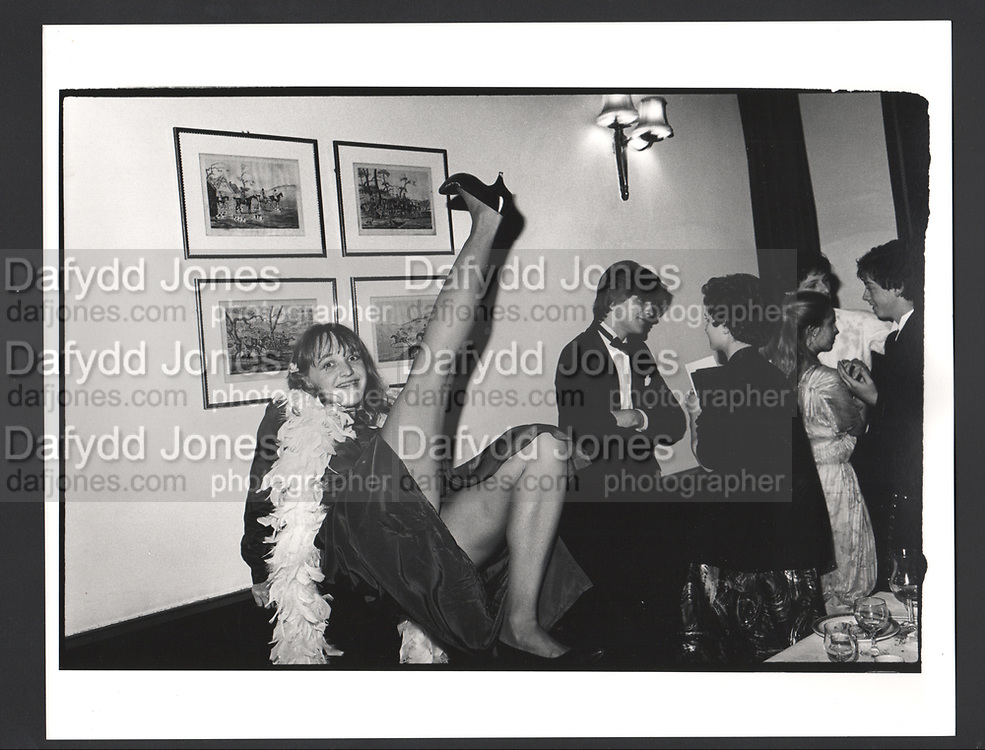 Keats dinner. Studley Priory. Oxford. 1980.Exhibition in a Box
