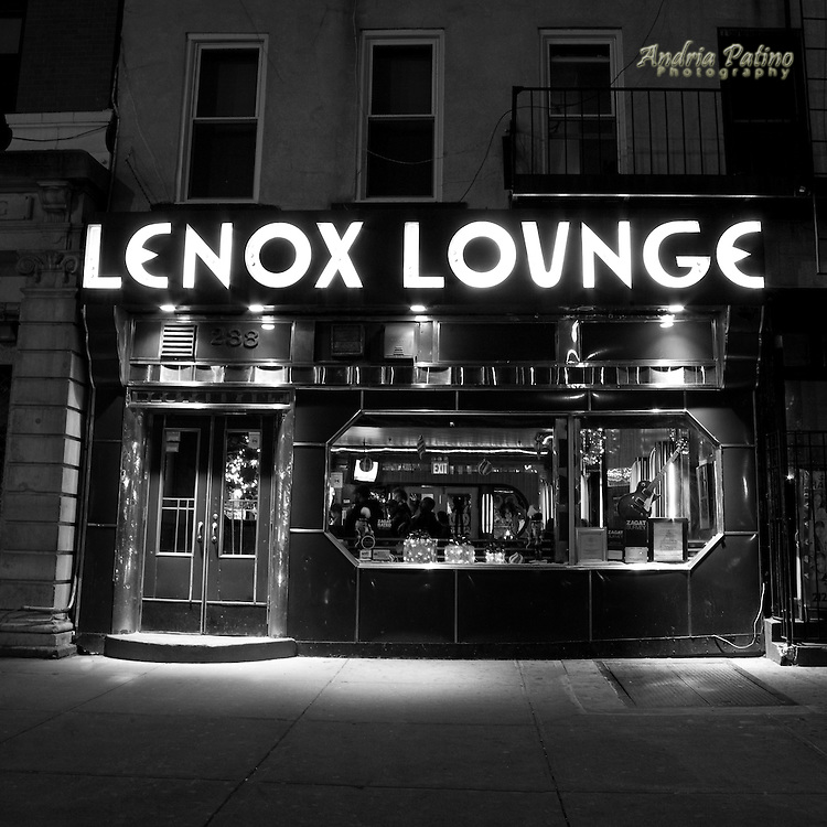 The historic Lenox Lounge and its Zebra Room have been significant in the Harlem community since the opening in the late 1930's. It has served as the backdrop for many jazz legends. One of the few original art-deco club interiors left in New York City.