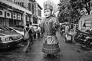 Ondel-ondel Betawi street performance Kota, Jakarta, Indonesia, 2016 - Photograph by David Dare Parker