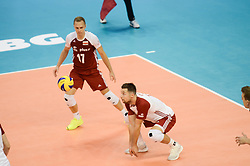 September 12, 2018 - Varna, Bulgaria - Michal Kubiak, Poland  play the ball during Cuba v Poland, pool D, during 2018 FIVB Volleyball Men's World Championship Italy-Bulgaria 2018, Varna, Bulgaria on September 12, 2018  (Credit Image: © Hristo Rusev/NurPhoto/ZUMA Press)
