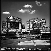 A hipstamatic iPhone image view of Citi Field during the New York Mets V Pittsburgh Pirates Baseball game at Citi Field, Queens, New York. USA. 12th May 2013. Photo Tim Clayton