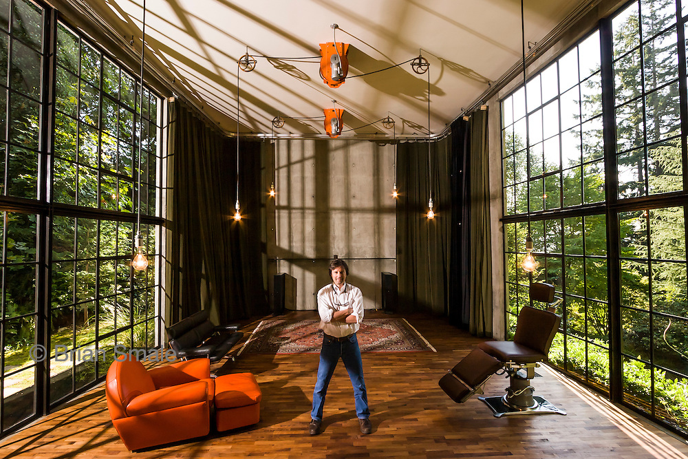 Tom Kundig, Architect. Photographed by Brian Smale, in The Brain (designed by Kundig).