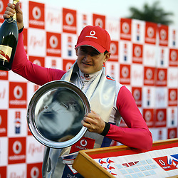 Winning (Jockey) Bernard Fayd'Herbe on MARINARESCO during RACE 7 THE VODACOM DURBAN JULY (Grade 1) - 2200m – R4 250 000 at THE VODACOM DURBAN JULY at Greyville Racecourse in Durban, South Africa on 1st July 2017<br /> Photo by:  Steve Haag Sports