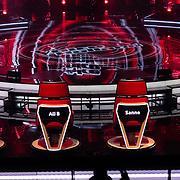 NLD/Hilversum/20180216 - Finale The voice of Holland 2018, stoelen van coaches