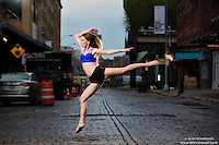 Meat Packing District New York City Dance As Art Photography Project featuring ballerina Megganne Smits