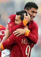 """Vincenzo Montella (Roma) festeggia dopo il gol con David Pizarro<br /> <br /> Vincenzo Montella celebrates after scoring with teammate David Pizarro<br /> <br /> Italian """"Serie A"""" 2006-07 <br /> <br /> 19 November 2006 (Match Day 12) <br /> <br /> Roma Catania (7-0) <br /> <br /> """"Olimpico"""" Stadium-Roma-Italy <br /> <br /> Photographer Andrea Staccioli INSIDE"""