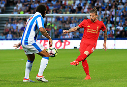 Alberto Moreno of Liverpool in action - Mandatory by-line: Matt McNulty/JMP - 20/07/2016 - FOOTBALL - John Smith's Stadium - Huddersfield, England - Huddersfield Town v Liverpool - Pre-season friendly