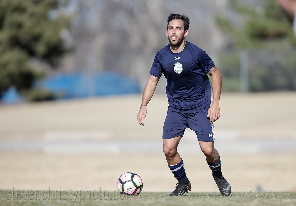 February 11, 2017: OKC Energy FC plays the John Brown University Golden Eagles in a USL preseason game at Casady School in Oklahoma City, Oklahoma.