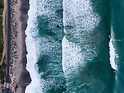 Aerial photo of a surf break in San Clemente CA.