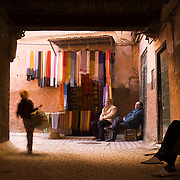 Alley in the zouk of Marrakech