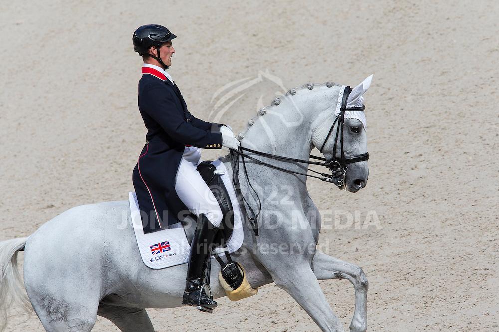 Michael Eilberg, (GBR), Half Moon Delphi - Grand Prix Team Competition Dressage - Alltech FEI World Equestrian Games&trade; 2014 - Normandy, France.<br /> &copy; Hippo Foto Team - Leanjo de Koster<br /> 25/06/14