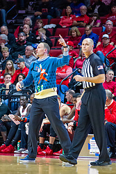 NORMAL, IL - December 07: Jeff Malham watches the action as he nears an animated Dan Muller during a college basketball game between the ISU Redbirds and the Morehead State Eagles on December 07 2019 at Redbird Arena in Normal, IL. (Photo by Alan Look)