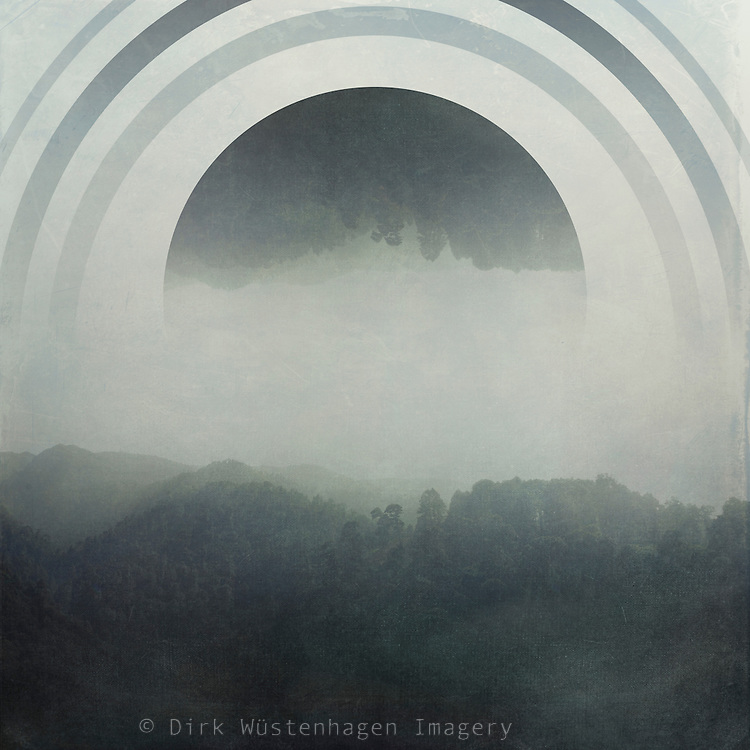 Misty hills on La Palma/ Canary Islands - manipulated photograph<br /> Society6 products: https://society6.com/product/body-and-soul-p02_print#s6-4638124p4a1v45