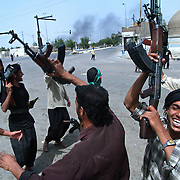 Moqtada al-Sadr's Mehdi Army take control of the streets and battle US forces  in Najaf, Iraq on the 21st May 2004.