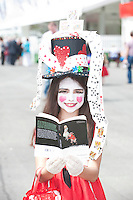 Ellie Malone from Galway who dressed up for the mad hatters day at the last day of the  Galway Races. Picture:Andrew Downes