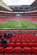 Wembley Stadium, London begins to fill with fans prior to the Sky Bet League 2 Play-off Final between AFC Wimbledon and Plymouth Argyle<br /> Picture by Matt Wilkinson/Focus Images Ltd 07814 960751<br /> 30/05/2016