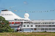 A cruise ship on Copenhagen Bay.