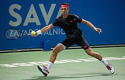 Sergiy Stakhovsky (UKR) in action during Day 7 at ATP Challenger Zavarovalnica Sava Slovenia Open 2018, on August 9, 2018 in Sports centre, Portoroz/Portorose, Slovenia. Photo by Vid Ponikvar / Sportida