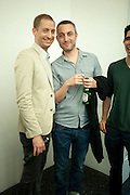 STUART COMER; PABLO BRONSTEIN; Pablo Bronstein, Sketches for Regency Living. Private view. ICA. The Mall. London. 8 June 2011. <br /> <br />  , -DO NOT ARCHIVE-© Copyright Photograph by Dafydd Jones. 248 Clapham Rd. London SW9 0PZ. Tel 0207 820 0771. www.dafjones.com.