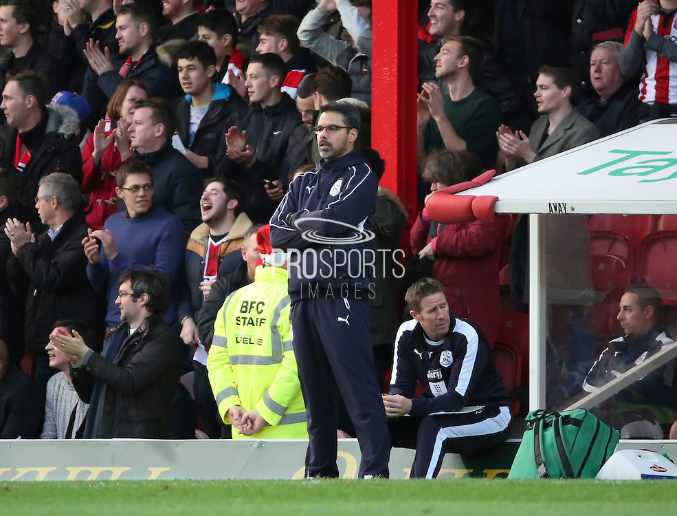 Hudderfield Town manager David Wagner looking on unimpressed after going 3-0 down during the Sky Bet Championship match between Brentford and Huddersfield Town at Griffin Park, London, England on 19 December 2015. Photo by Matthew Redman.