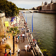 Seine river banks during Paris Plage, Paris, France