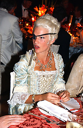 LADY ALEXANDRA GORDON-LENNOX at the 2004 Goodwood Revival ball this year theme was a Venetian Masked Ball, held at Goodwood Motor Racing circuit, West Sussex on 4t September 2004.
