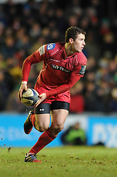 Scarlets replacement, Steven Shingler - Photo mandatory by-line: Dougie Allward/JMP - Mobile: 07966 386802 - 16/01/2015 - SPORT - Rugby - Leicester - Welford Road - Leicester Tigers v Scarlets - European Rugby Champions Cup