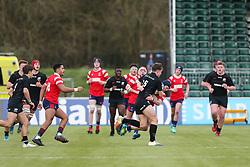 Harry Rowson of Bristol Bears U18 puts a tackle in  - Mandatory by-line: Arron Gent/JMP - 12/01/2020 - RUGBY - Allianz Park - London, England - Saracens U18 v Bristol Bears U18 - Premiership U18 Academy