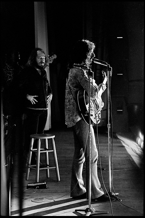 Fall River, Massachusetts - 18 February 1968. Frank Zappa and The Mothers of Invention in performance at the Durfee Theater.. Behind Zappa on stage is Ray Collins. © Ed Lefkowicz 2020<br />