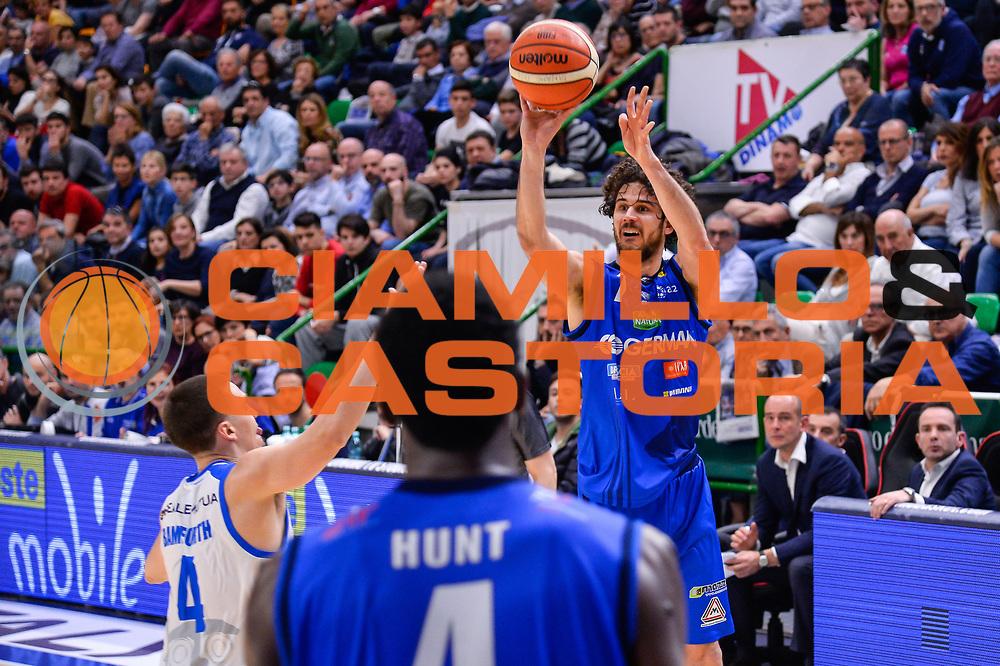 Luca Vitali<br /> Banco di Sardegna Dinamo Sassari - Germani Basket Leonessa Brescia<br /> Legabasket Serie A LBA PosteMobile 2017/2018<br /> Sassari, 08/04/2018<br /> Foto L.Canu / Ciamillo-Castoria