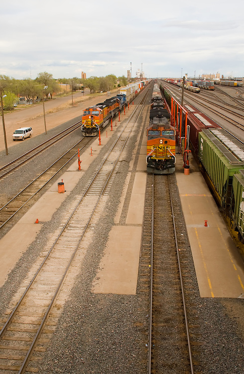The main line fueling racks at Clovis, NM are busy on a cloudy afternoon.