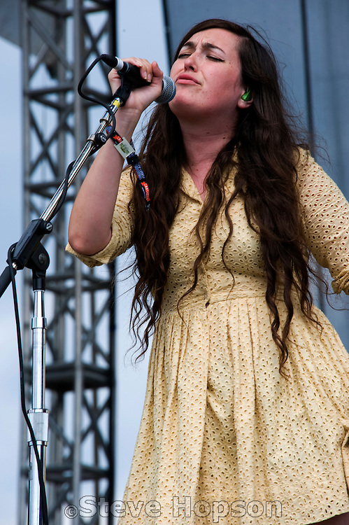 Madeline Follin of Cults performs at the Austin City Limits Music Festival 2010, Austin Texas, September 16, 2011.  The Austin City Limits Music Festival is an annual three-day music festival in Austin, Texas's Zilker Park.