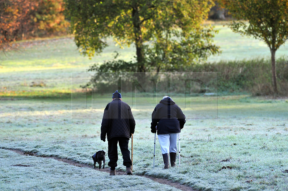 © Licensed to London News Pictures.19/11/2017.<br /> SIDCUP, UK.<br /> A cold weather morning at Foots Cray Meadows in Sidcup,Kent.<br /> Photo credit: Grant Falvey/LNP
