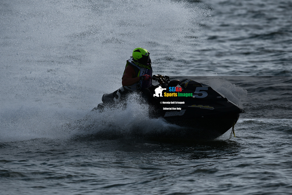 PATTAYA, THAILAND - DECEMBER 09: Gyorgy Kasza (5) of Hungary and Kasza Racing after the Pro Runabout 1100 Open Moto4 at the Thai Airways International Jet Ski World Cup 2018, Jomtien Beach, Pattaya, Thailand on December 09, 2018. <br /> .<br /> .<br /> .<br /> (Photo by: Naratip Golf Srisupab/SEALs Sports Images)<br /> .<br /> Any image use must include a mandatory credit line adjacent to the content which should read: Naratip Golf Srisupab/SEALs Sports Images