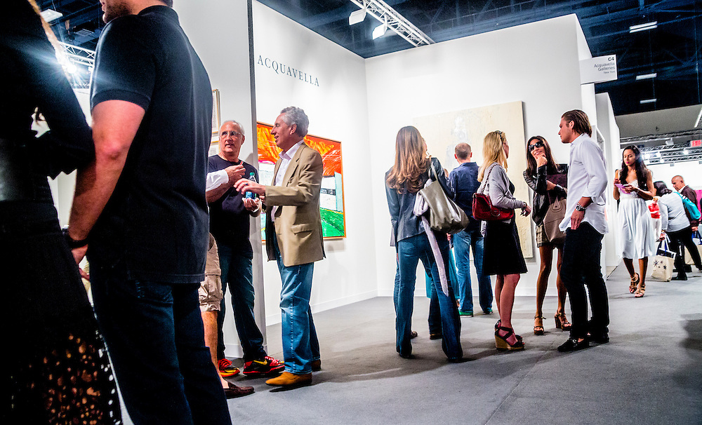 Crowd at Art Basel Miami Beach 2012