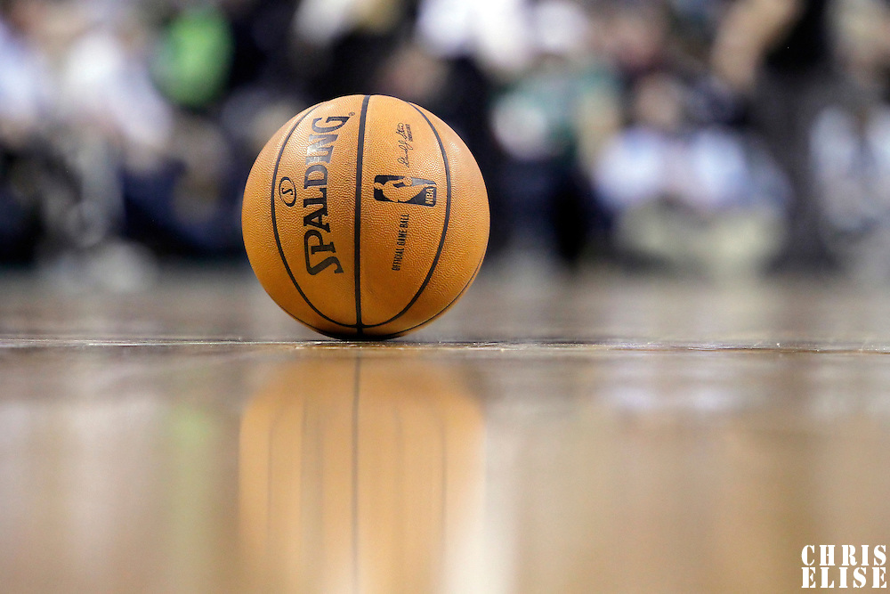 06 March 2012: View of a ball during the Boston Celtics 97-92 (OT) victory over the Houston Rockets at the TD Garden, Boston, Massachusetts, USA.