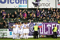 Players of Maribor celebrating with fans during football match between NŠ Mura and NK Maribor in semifinal Round of Pokal Telekom Slovenije 2018/19, on April 24, 2019 in Fazanerija, Murska Sobota, Slovenia. Photo by Blaž Weindorfer / Sportida
