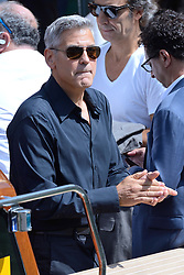 Hollywood star George Clooney was treated in hospital on Tuesday for minor injuries after a scooter accident in Sardinia, Italy on July 10, 2018 ------------ George Clooney leaving the Excelsior during the 74th Venice International Film Festival (Mostra di Venezia) at the Lido, Venice, Italy on September 02, 2017. Photo by Aurore Marechal/ABACAPRESS.COM