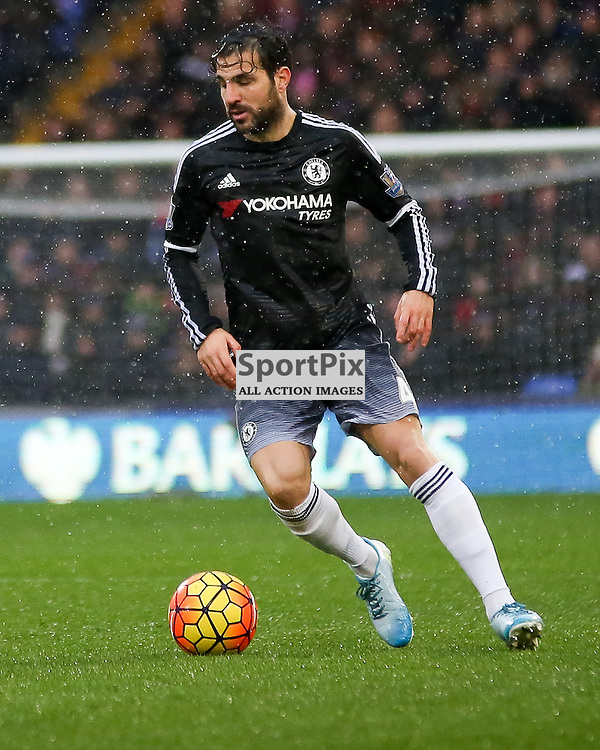 Cesc Fabregas on the ball During Crystal Palace vs Chelsea Sunday 3rd January 2016