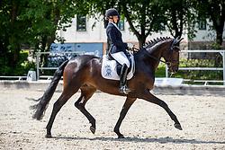 WEGO Nicole (GER), Free in Motion<br /> Redefin - Pferdefestival 2019<br /> BreFood-Preis<br /> Einlaufprüfung zur Qualifikation zum Bundeschampionat der 5j. Dressurpferde<br /> Dressurpferdeprüfung Kl. L für 5-jährige Pferde<br /> 24. Mai 2019<br /> © www.sportfotos-lafrentz.de/Stefan Lafrentz