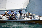 12 Meter Class Heritage racing in the Opera House Cup regatta.