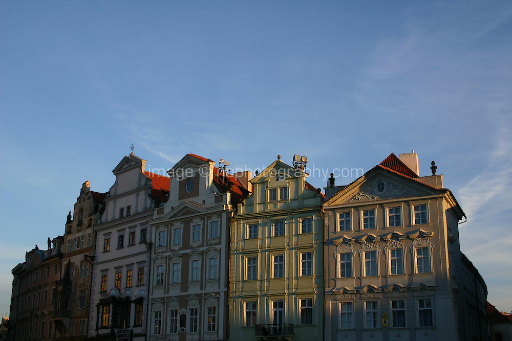 Colourful buildings at at Old Town Square in Prague, Czech Republic<br />