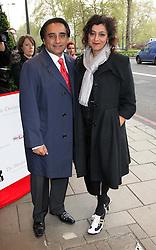 Sanjeev Bhaskar and Meera Syal  arriving at the Southbank Sky Arts Awards in London, Tuesday, 1st May 2012.  Photo by: Stephen Lock / i-Images